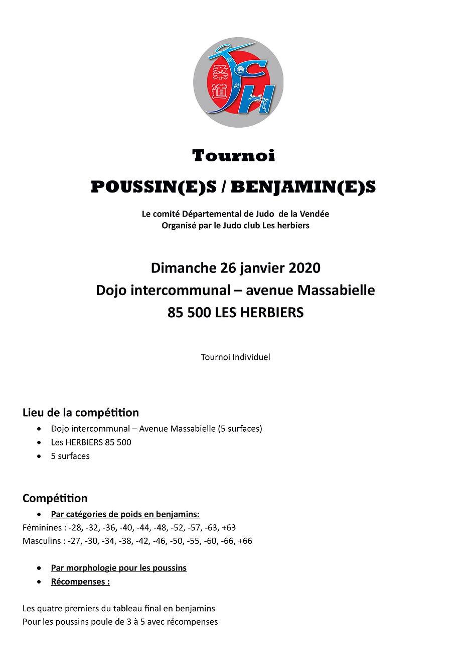 Tournoi poussins benjamins Les Herbiers-