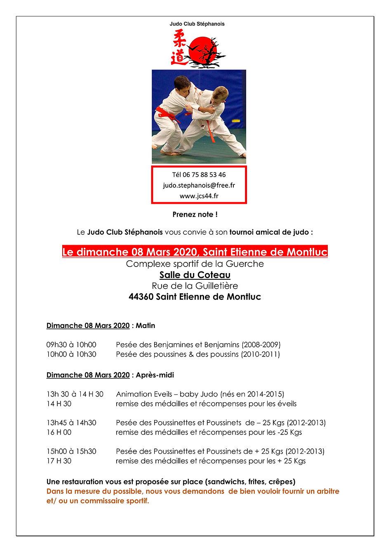 AFFICHE TOURNOI AMICAL - JC STEPHANOIS -