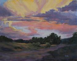 Sunset on Williamson Valley Road