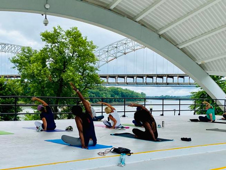 News & Tribune Feature: Heart 2 Heart offers outdoor summer yoga series