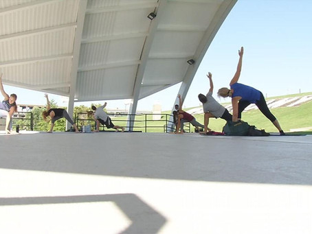 WDRB Feature: Southern Indiana wellness center hosting 'therapeutic' outdoor summer yoga series
