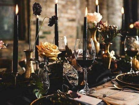 Elegant Halloween Wedding Inspiration Board