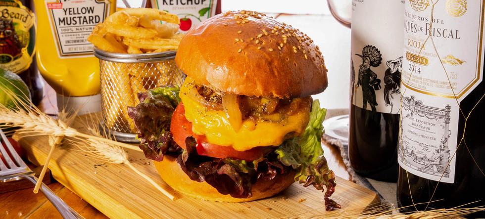 ハンバーガー 撮影B