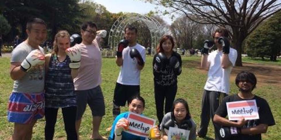 Kickboxing lesson for beginner @Harajuku