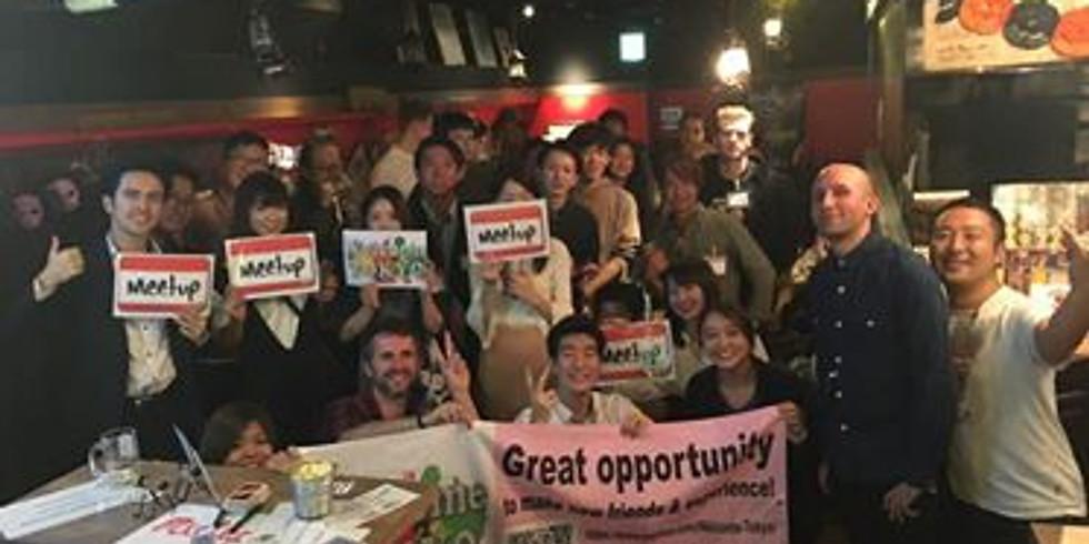 20's 30's Make Friends Meetup Tokyo Friending&FunChat@Shimbashi HUB 国際交流@新橋
