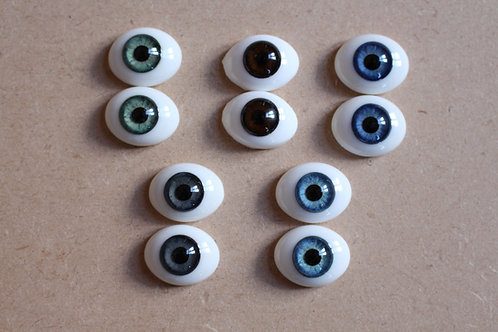 Solid Glass Eyes - 16mm