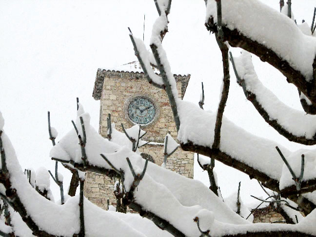 Snowy bell tower
