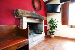 Dining room. Fireplace