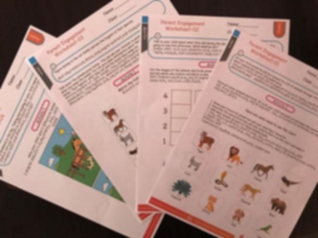 Parent worksheet, key eduction foundation