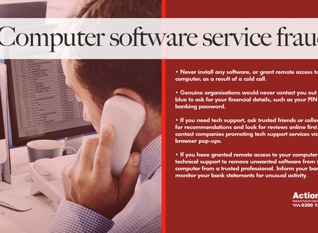 Action Fraud: Computer Software Service Fraud