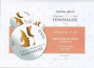 2012, Or - Concours Féminalise