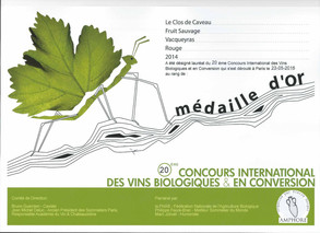 2015, Or - Concours Amphore 2016