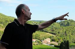 Henri guiding a group nature trail