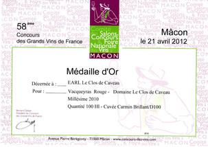 2010, Or - Mâcon