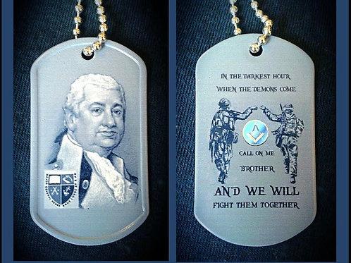 Major General Henry Knox Freemason Dog Tag
