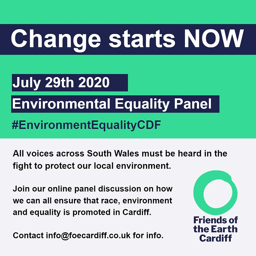 Change Starts Now! Environmental Equity Panel