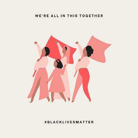 Pink and Cream Black Lives Matter Instag