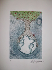 apple tree print
