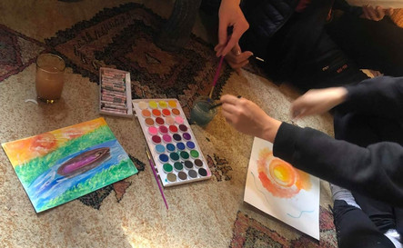 Art therapy in action