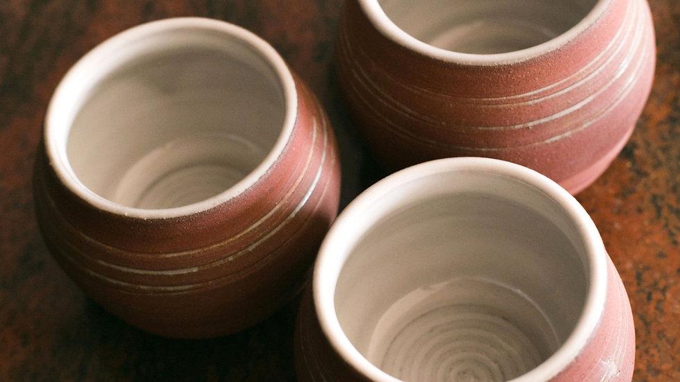 terracotta cup set
