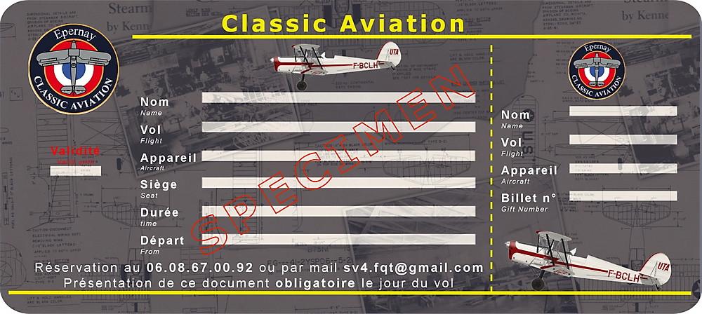 Chéque cadeau Classic Aviation
