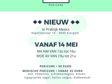 Nieuw vanaf 14 mei: medische pedicure!