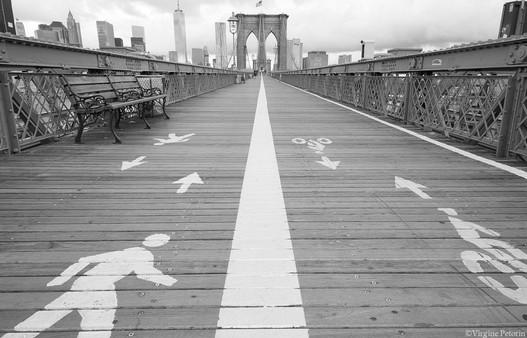The path on Brooklin Bridge
