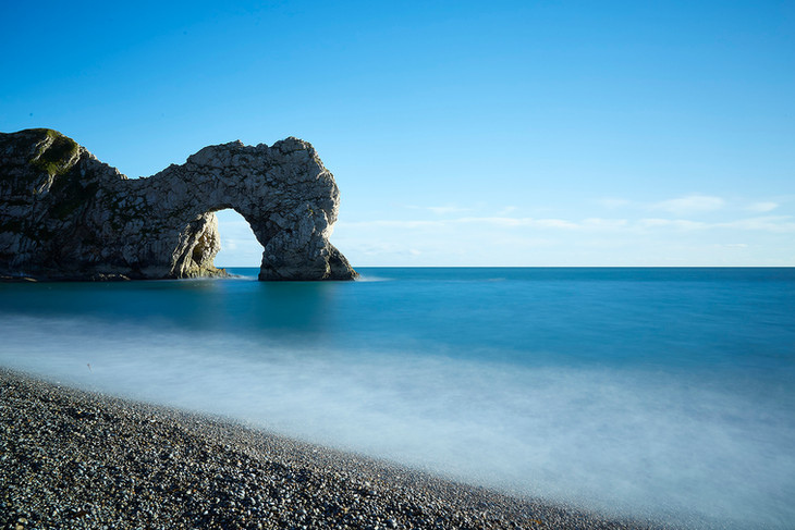 Durdle Door in blue