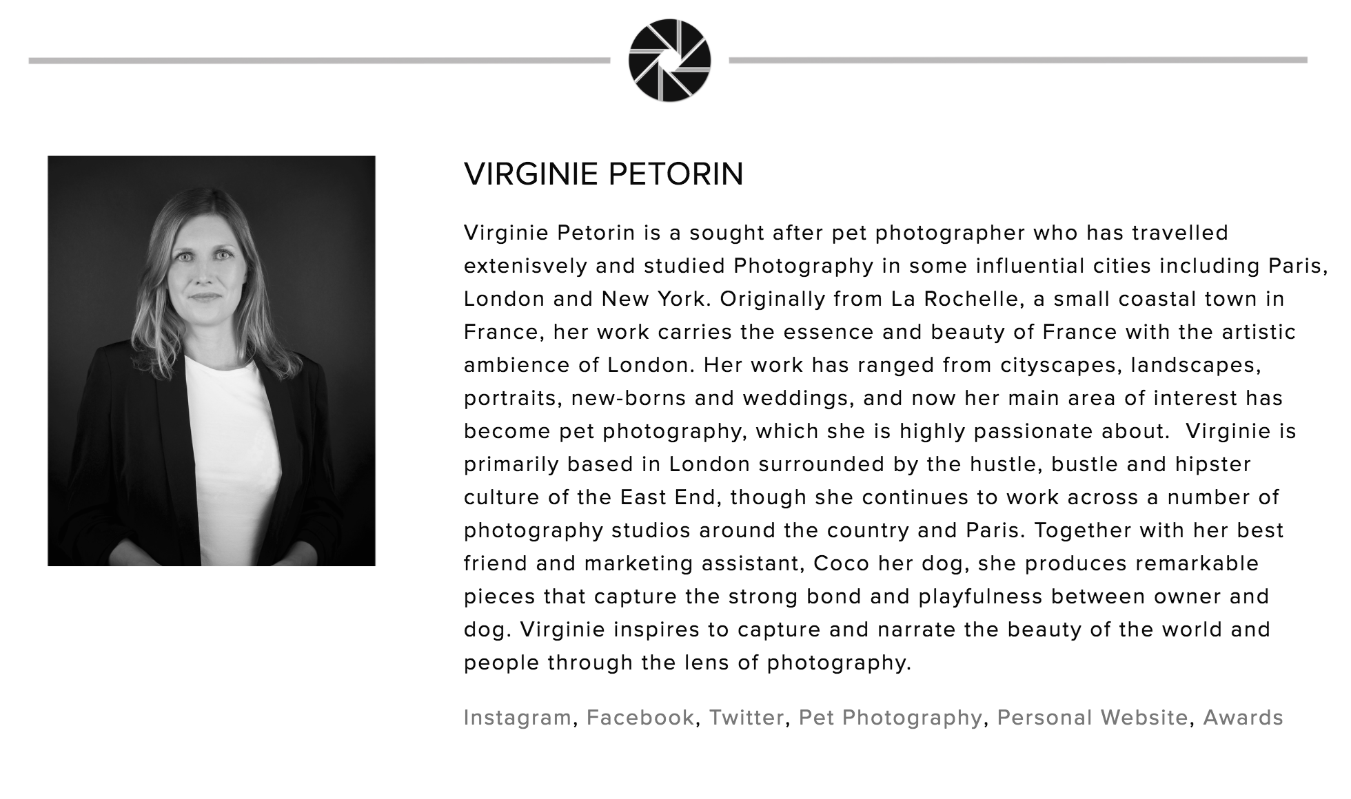 Virginie Petorin, Judge