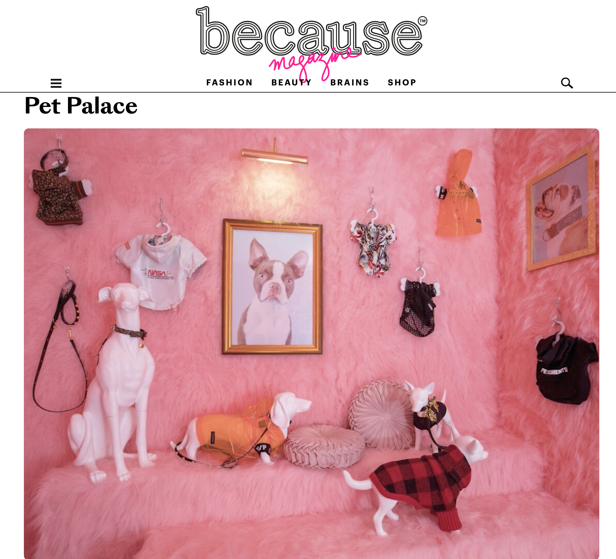 Pet Palace by Because London