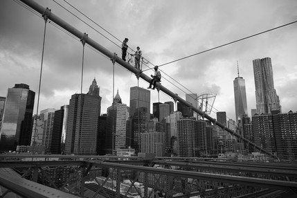 Worker on Brooklin Bridge