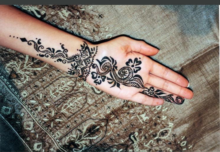 Simple Bridal Henna Tattoo