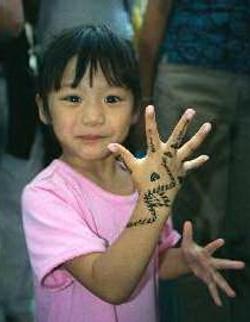 Henna Simple Kids Design