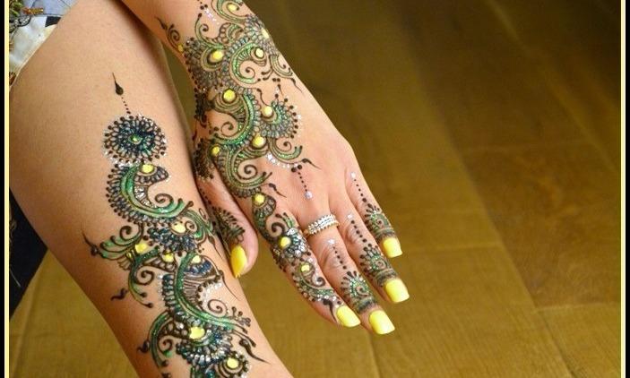 Modern Traditional Henna Design
