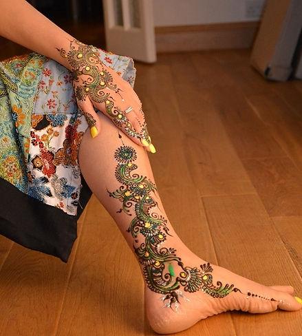 Glitter Bridal Henna