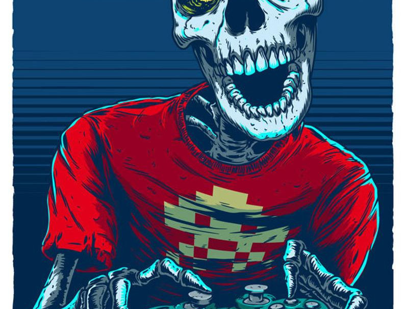 SKELETON GAMER by Marcos Cabrera