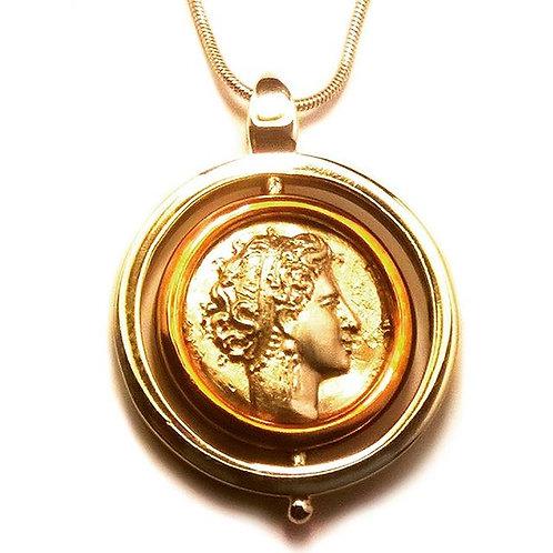 Ciondolo riproduzione Moneta Neapolis