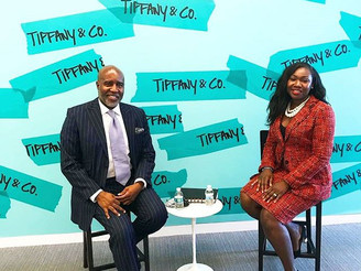 Tiffany & Co. hosts celebration of Black History Month featuring Len Burnett, Jr. with Lesley Ho