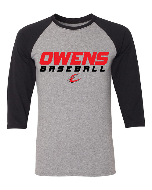 Owens Baseball Triblend 3/4-Sleeve