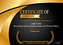 LEGIT Finalist- Independent shorts awar
