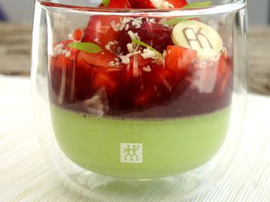 BASIL PANNACOTTA | Pannacotta Manjericão com Frutos Vermelhos