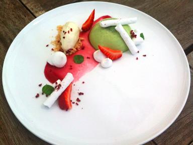 Strawberries, Basil, Creme Fraiche & Shortbread Crumble | RECIPE