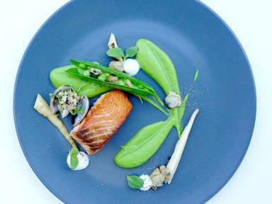 Salmon, Clams and Peas | RECIPE
