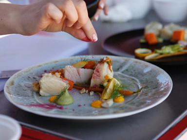 Confit Salted Cod with Peas & Veggies   RECIPE
