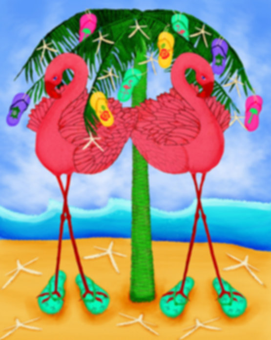 2013 christmas flamingo palm tree tes 2 flip flops.jpg