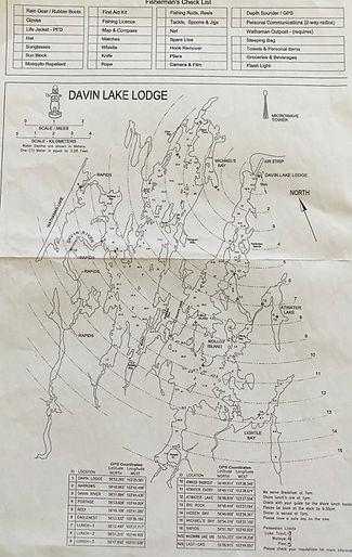 Davin Lake Map