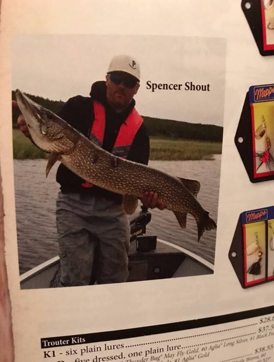 Mepps Catalogue: Spencer Shout at Davin Lake