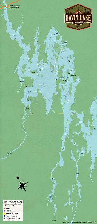 Wathaman Lake Fishing Map