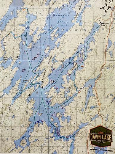 Davin Lake Fishing Map
