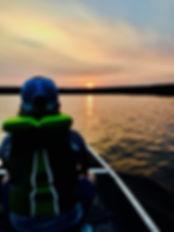 sunset from canoe